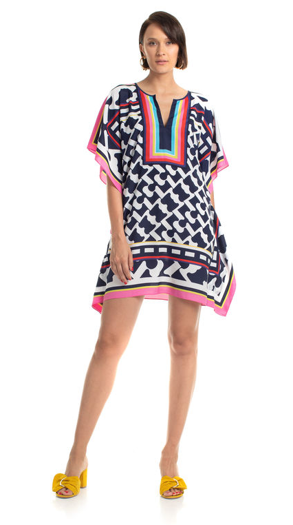 Trina Turk Theodora Dress Rainbow Navy