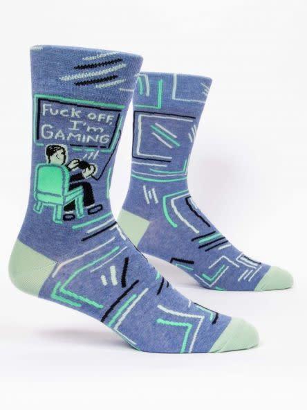 Blue Q F*ck Off, I'm Gaming M-Crew Socks