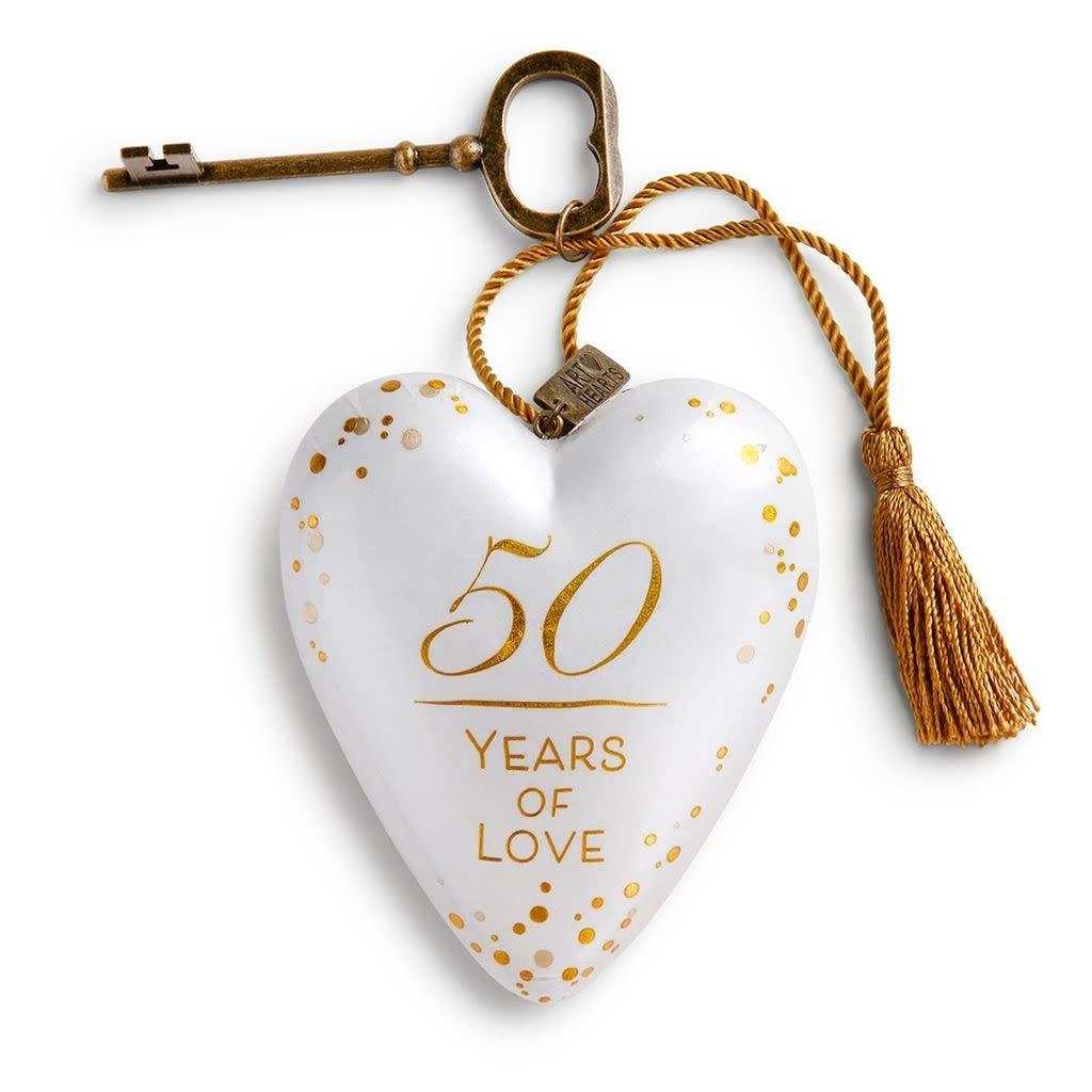 Demdaco Art Heart 50 Years of Love