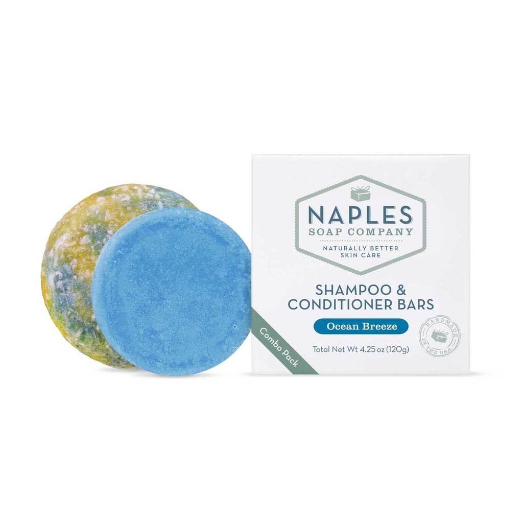 Naples Soap Company Shampoo/Conditioner Bars Ocean Breeze