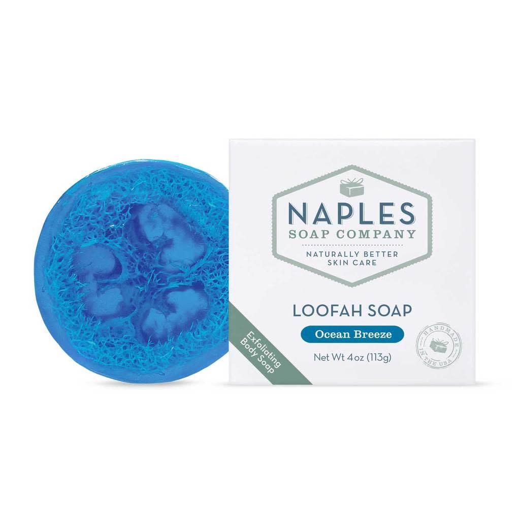 Naples Soap Company Loofah Soap Ocean Breeze
