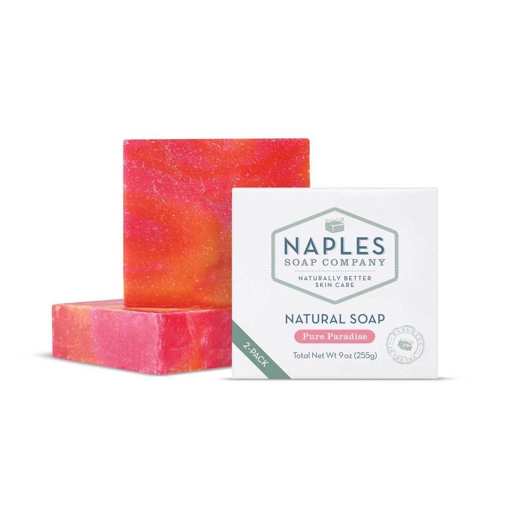 Naples Soap Co. Natural Soap 2 Pack Pure Paradise