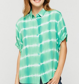 Velvet Heart Pleasance Short Sleeve Palm Tie Dye