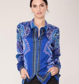 Hale Bob Carrington Shirt Cobalt