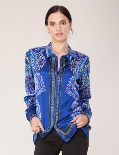 Hale Bob Carrington Shirt Cobalt