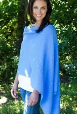Claudia Nichole Cashmere Topper Blue Horizon