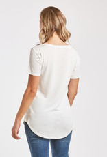 Another Love Valentina V Neck Tee White