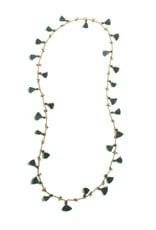 Shiraleah Freya Tassel Necklace Emerald