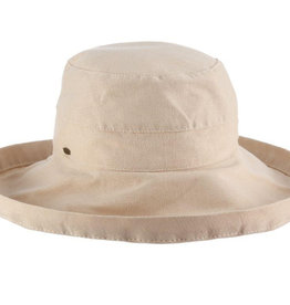 "Dorfman Pacific Giana 3"" Cotton Hat Sand"