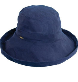 "Dorfman Pacific Giana 3"" Cotton Hat Navy"