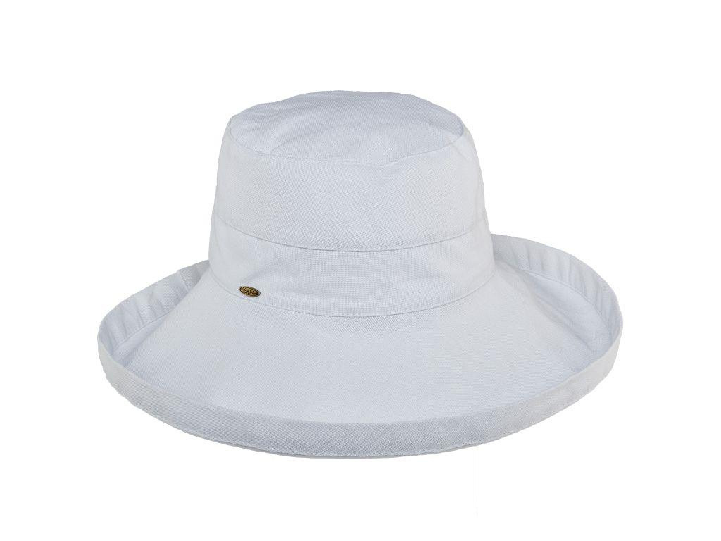 "Dorfman Pacific Giana 3"" Cotton Hat White"