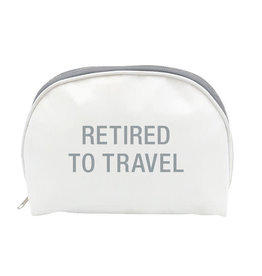 About Face RETIRED TO TRAVEL COSMETIC BAG