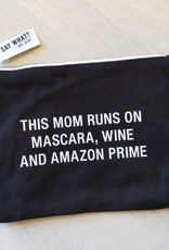 About Face Mascara and Wine Cosmetic Bag