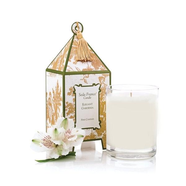 Seda France Elegant Gardenia Classic Toile Pagoda Box Candle