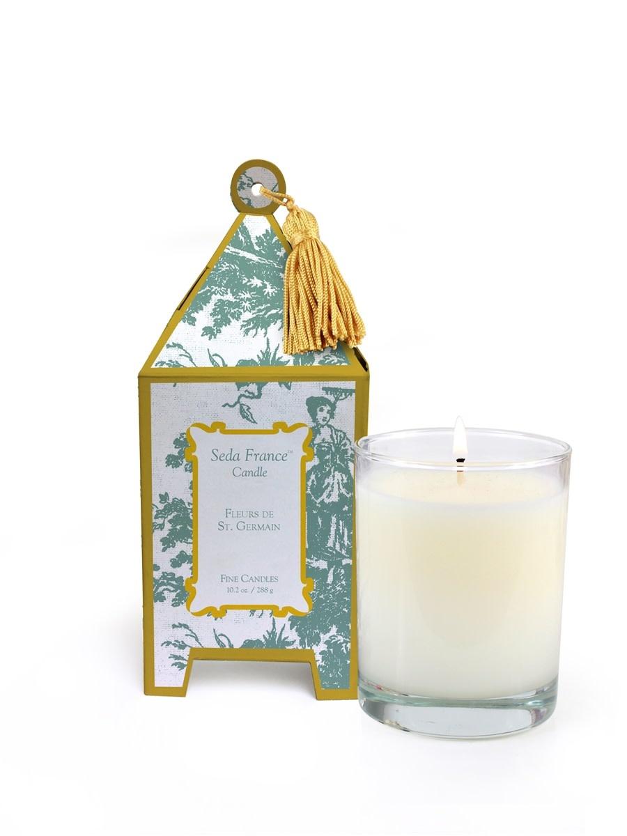 Seda France Fleurs de St. Germain Classic Toile Pagoda Box Candle