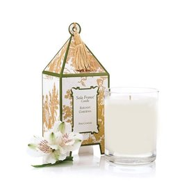 Seda France Elegant Gardenia Classic Toile Mini Pagoda Box Candle
