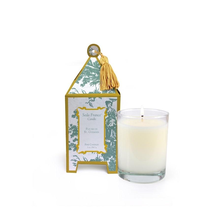 Seda France Fleurs de St. Germain Classic Toile Mini Pagoda Box Candle