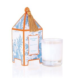 Seda France French Tulip Classic Toile Mini Pagoda Box Candle