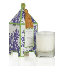 Seda France Lavande Provencale Classic Toile Mini Pagoda Box Candle