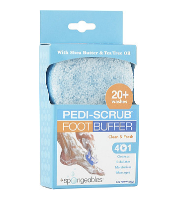 Spongeables Pedi-Scrub Foot Buffer Clean & Fresh