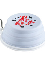 About Face Collapsible Dog Bowl Tail Wag