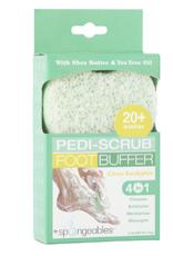 Spongeables Pedi-Scrub Foot Buffer Citron Eucalyptus