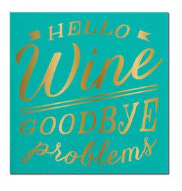 Slant Hello Wine Napkins 20 CT