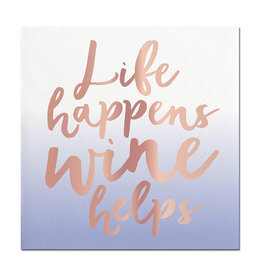 Slant Life Happens Wine Helps Napkins 20 CT