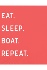 Slant Eat Sleep Boat Repeat
