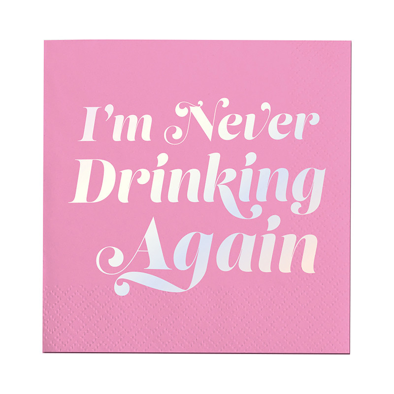 Slant I'm Never Drinking Again Napkins 20 CT