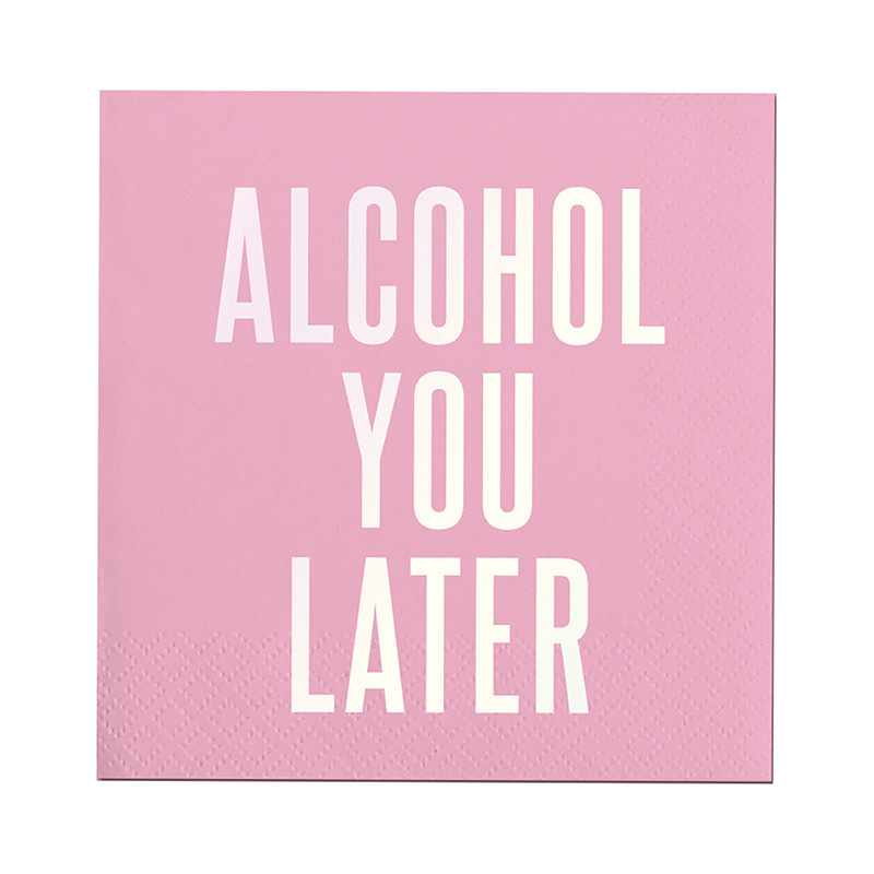 Slant Alcohol You Later Napkins 20 CT
