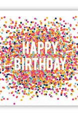 Slant Happy Birthday Confetti Napkins 20 CT