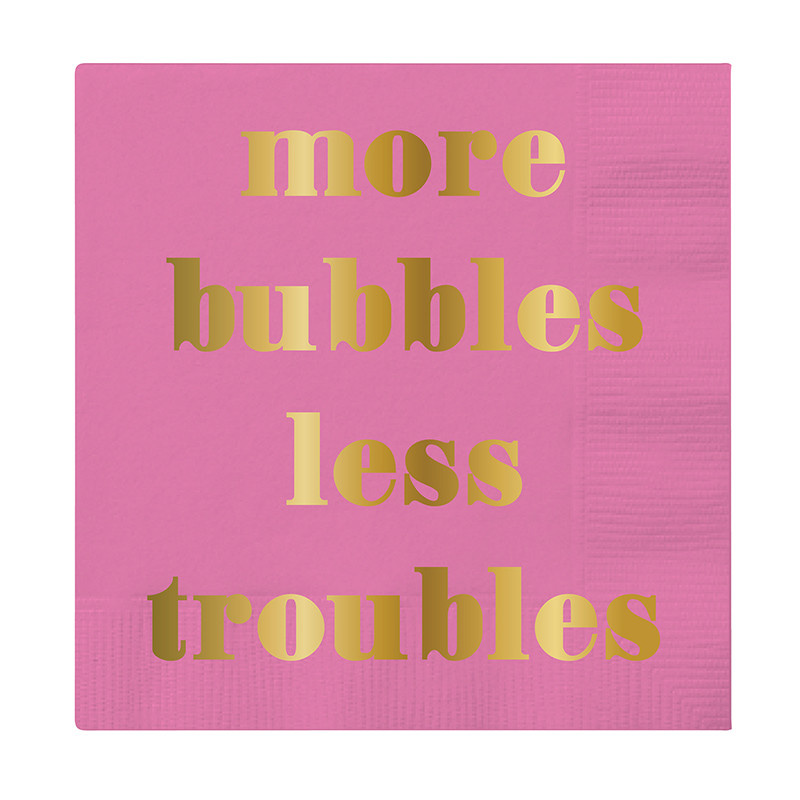 Slant More Bubbles Less Troubles Napkins 20 CT