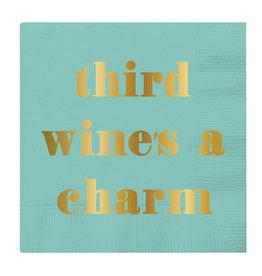 Slant Third Wine's a Charm Napkins 20 CT