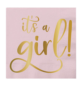 Slant It's a Girl Napkins 20 CT