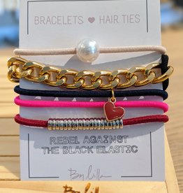 By Lilla Stack Bracelet & Hair Tie Chain