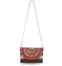 America & Beyond Paradise Beaded Clutch