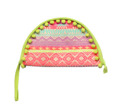 America & Beyond Tacco Clutch Lime