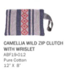 Camellia Wild Dove Clutch
