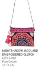 America & Beyond Nightshadow Clutch