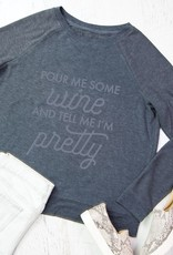 Mary Square Sweatshirt Pour Me Some Wine