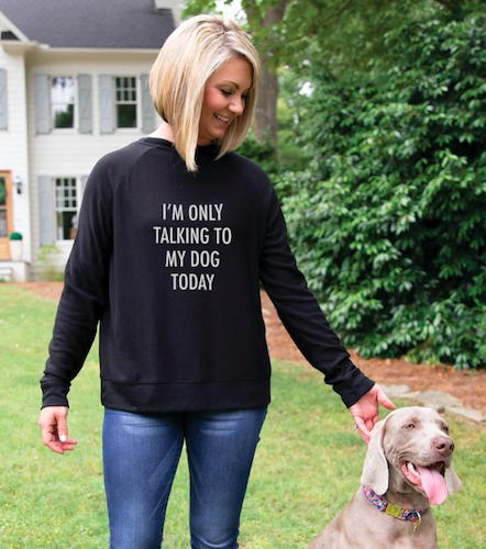 Mary Square Sweatshirt Talking To My Dog