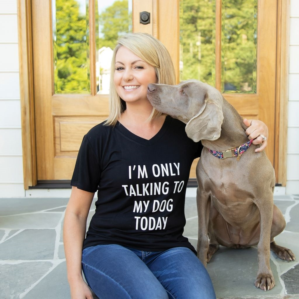 Mary Square T-Shirt Talking To My Dog