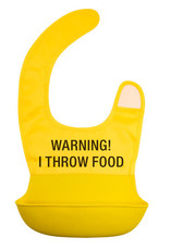 About Face Warning! I Throw Food Bib
