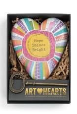 Art Hearts Hope Shines Bright