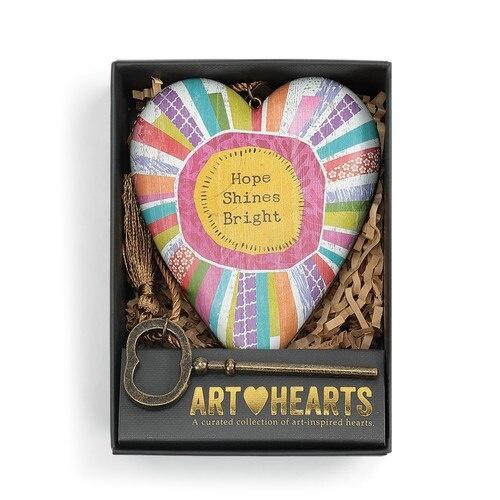 Demdaco Art Heart Hope Shines Bright