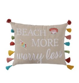 Levtex Beach More Worry Less Pillow