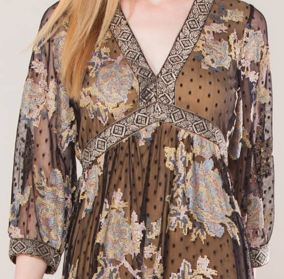 Hale Bob Wallis Embroidered Dress