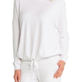 Barefoot Dreams Slouchy Pullover Sea Salt
