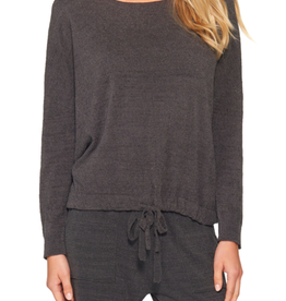 Barefoot Dreams Slouchy Pullover Carbon